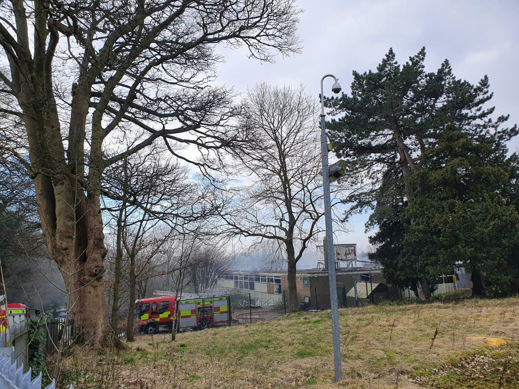 Water pumped from Roundhay Park's lake to battle fire at derelict school - which could now be demolished