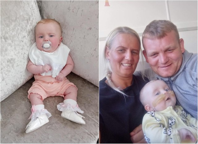 Dolcie with parents Julie and Lee.