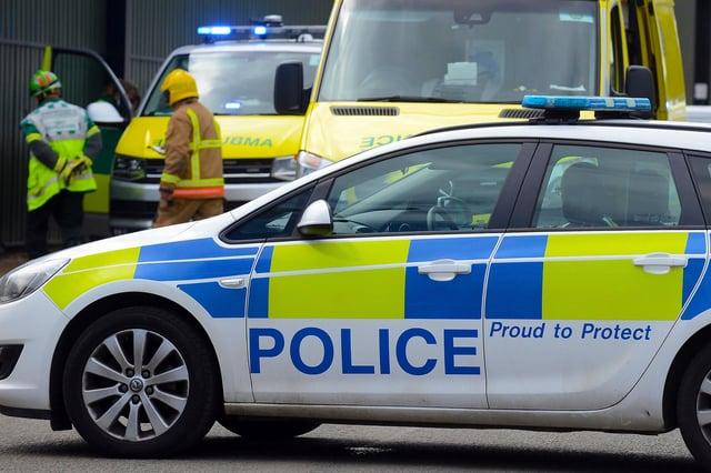 Northumbria Police said the road was closed as a precaution.