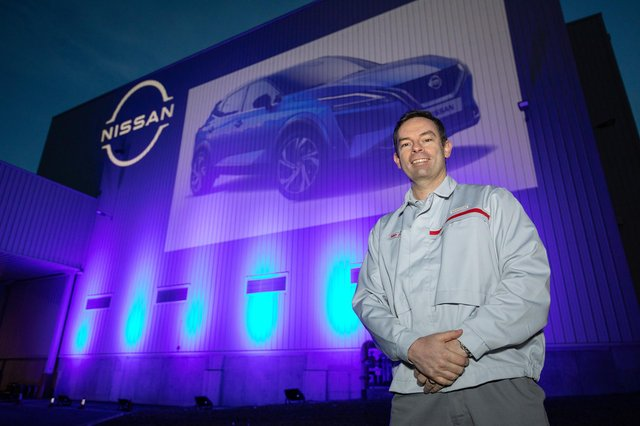 Alan Johnson, Vice President of Nissan Sunderland Plant with the new Qashqai projection.