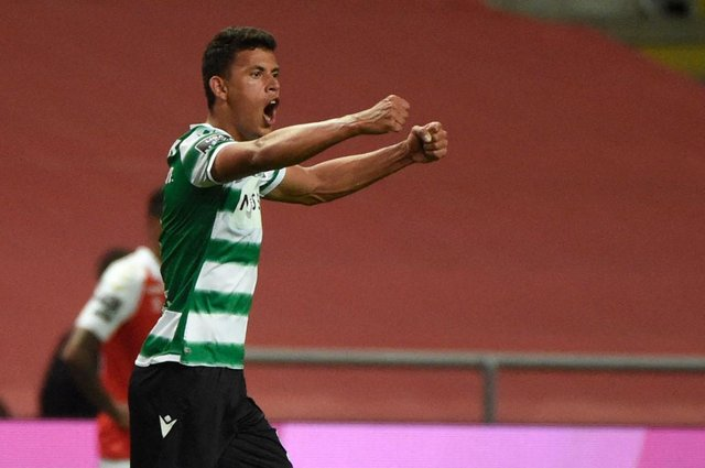 Sporting Lisbon midfielder Matheus Nunes has again been linked with a move to Newcastle United. (Photo by MIGUEL RIOPA/AFP via Getty Images)