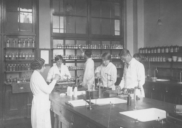 A historic pharmacy photo supplied by the University of Sunderland
