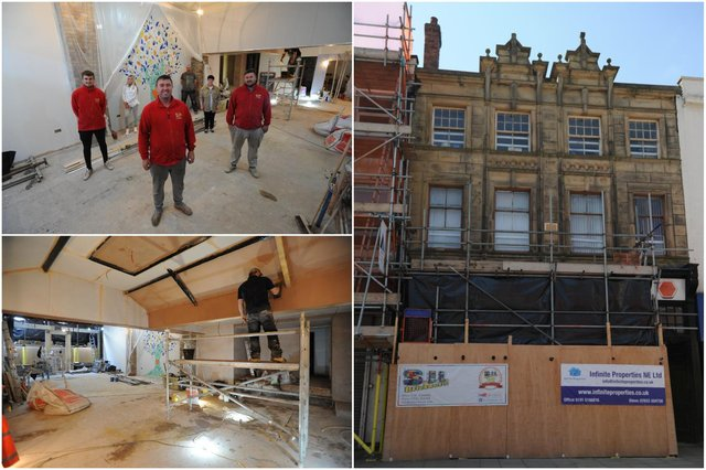 Works progressing at Betsy Jenny's counselling cafe