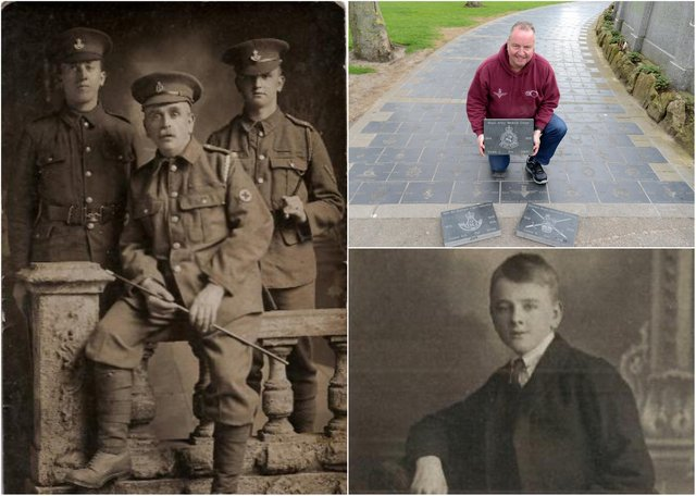 A tribute to three members of the Cowie family who were First World War heroes.