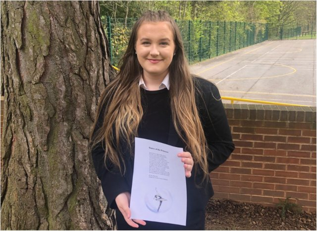 Amy Beverley, who won the Oxford University Tower Poetry Competition.