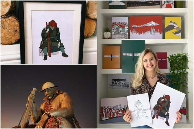 Artist Lucy Kitching created a print from her hand-illustration of Tommy