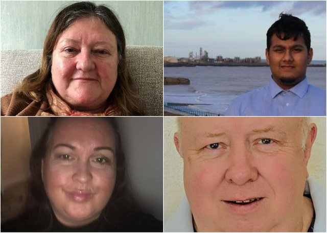 Clockwise from top left: Danielle Chamberlin, Ehthesham Haque, Colin Nicholson and Judith Porter.