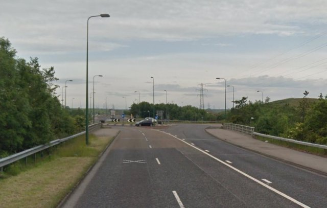 The AA has said the collision happened close to the eastern roundabout connecting the A182 with the A19. Image copyright of Google.
