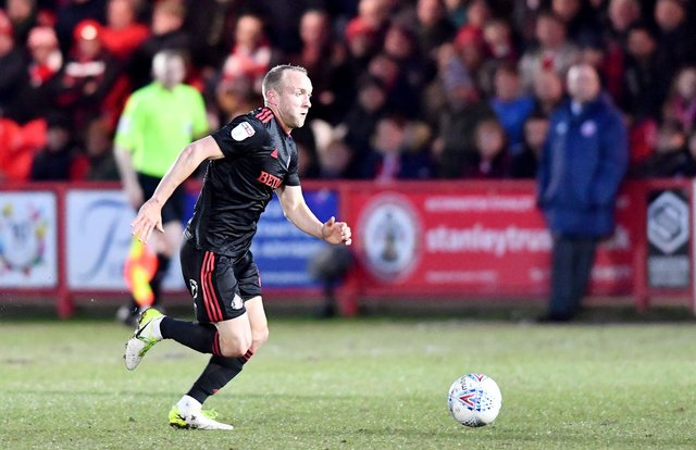 Dylan McGeouch in action at Accrington Stanley