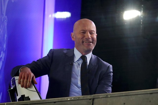 Alan Shearer, ex-Newcastle United player, is seen in the TV studio inside the stadium prior to the FA Cup Fourth Round Replay match between Oxford United and Newcastle United at Kassam Stadium.