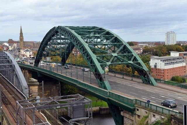 Northumbria Police were called to Wearmouth Bridge