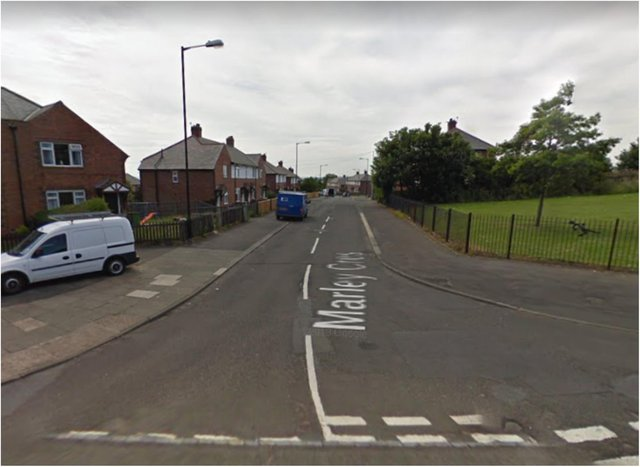 Police were called to reports of a disturbance on Marley Crescent.