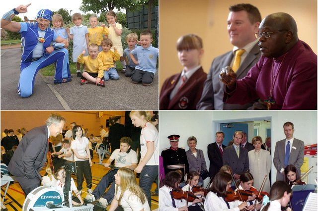 The day a celebrity came to school. Take a look and see if you remember these occasions.