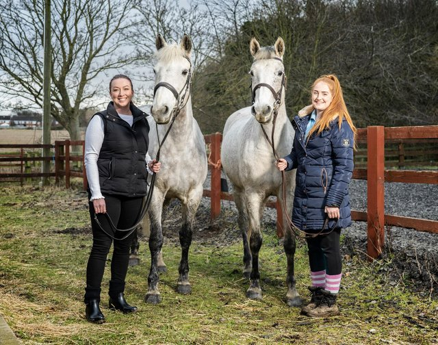Stacey Banfield from Miller Homes and Kate Parnaby from Washington Riding Centre.