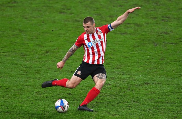 Sunderland player Max Power in action.