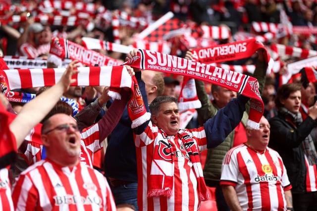 Sunderland fans at Wembley in 2019