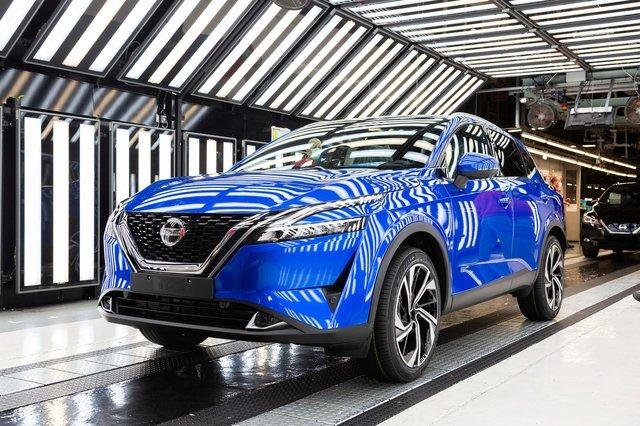The Sunderland plant has just begun production of the new Qashqai