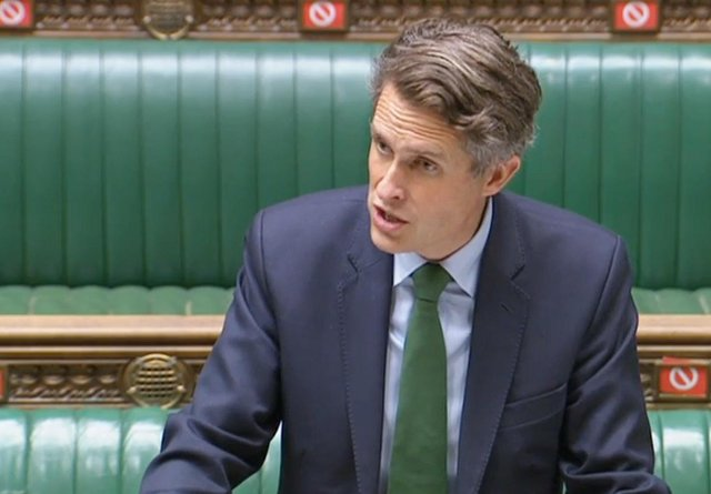 Education Secretary Gavin Williamson speaking to MPs in the House of Commons in London on easing coronavirus restrictions in education settings. Picture date: Tuesday July 6, 2021.