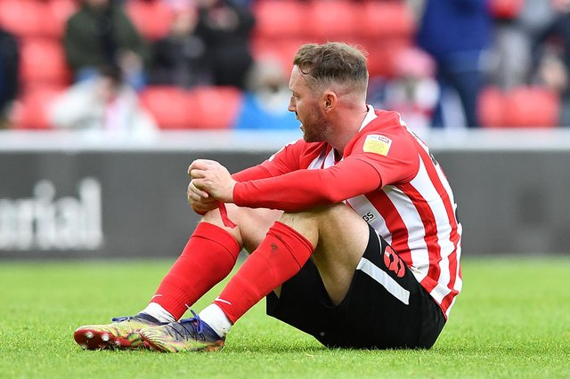 Aiden McGeady at the end of the Lincoln City play-off game.