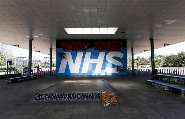 Street art dedicated to the NHS at a skate park in Milton Keynes (Photo: Catherine Ivill/Getty Images)
