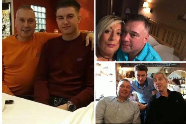 Chris pictured with son Ben, dad Raymond Kirby and partner Paula Dawson
