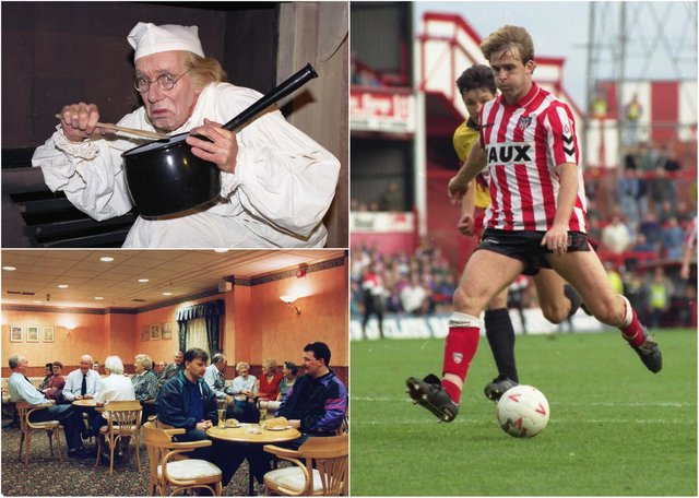 Cast your minds back to the days of John Byrne on the attack for Sunderland and relaxing with some refreshments at Crowtree Leisure Centre. We have a selection of scenes from 1991.