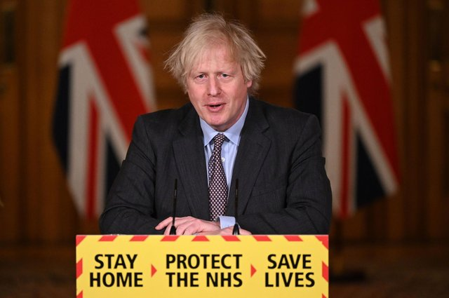 Boris Johnson hails the 'truly national effort to beat' coronavirus ahead of lockdown easing. (Photo by Leon Neal - WPA Pool/Getty Images)