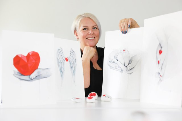 Karen Hughes is looking to launch workshops for anyone wanting to use art to support their mental well-being.