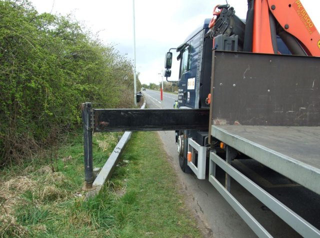 The man's scalp was hit on the head by a telescopic leg jutting out from a flatbed truck as he jogged in Boldon.
