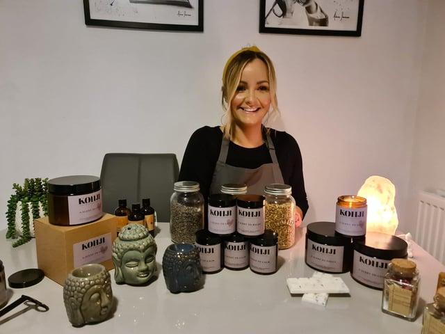 Donna Cope set up her Kohji business in Lockdown