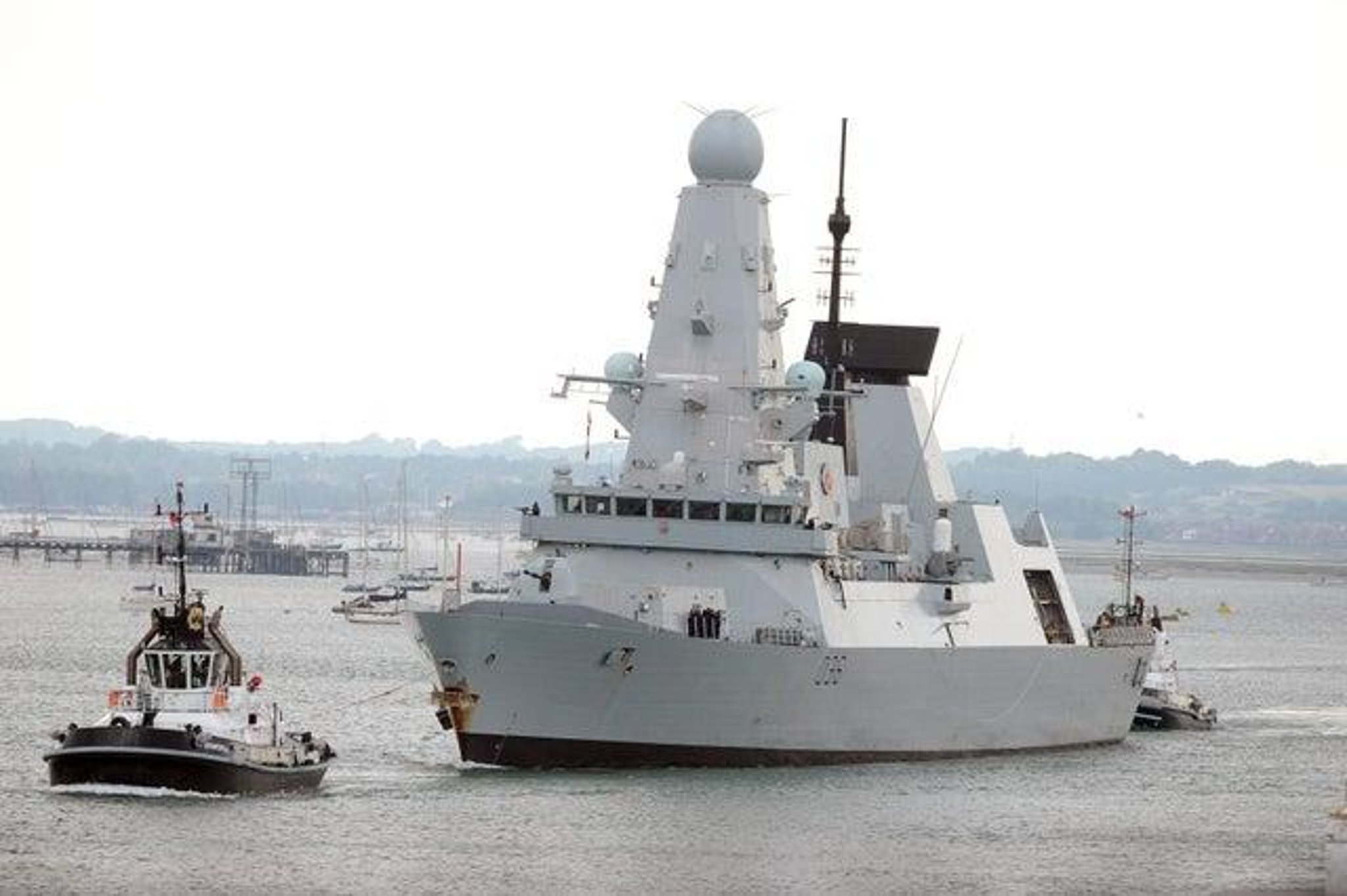 Navy warship HMS Defender leaves Portsmouth for sea trials ahead of global deployment