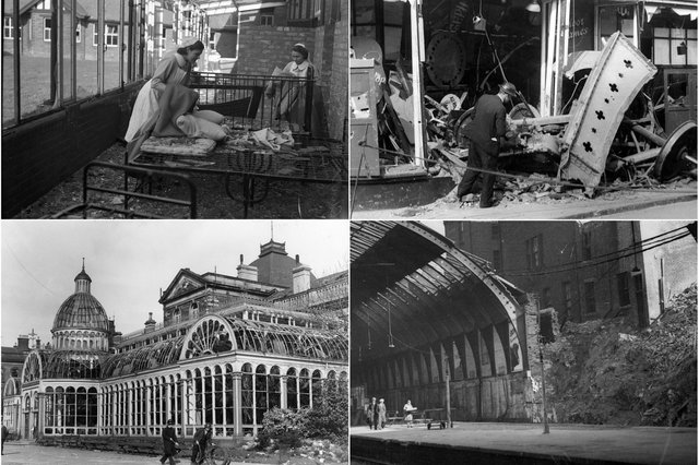 All of these Sunderland buildings were damaged during air raids, including 3 which were hit 80 years ago this year.