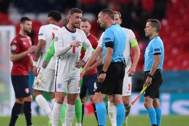 'Are you definitely definitely sure!?': Jordan Henderson sends cheeky tweet after seeing Euro 2020 goal disallowed by VAR