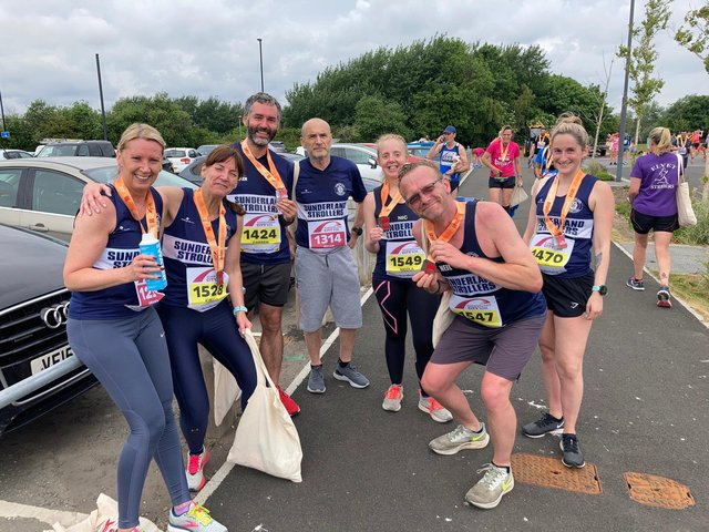 Sunderland Strollers members after the run