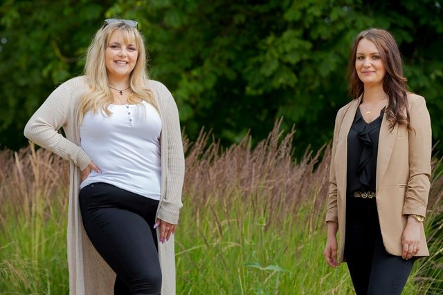 Sir Tom Cowie scholarship students Lucy Almond (left) and Heather Bowman Picture: DAVID WOOD