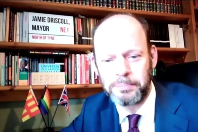 The elected North of Tyne Mayor, Jamie Driscoll.