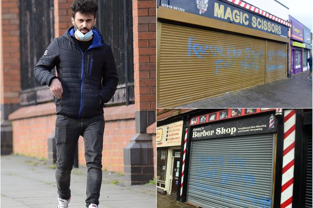 Sarbaz Rasul Khzri avoided prison time for the graffiti attacks which he carried out at the end of January.