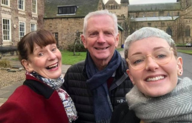 Pauline Robson with husband Martin and daughter Amy.