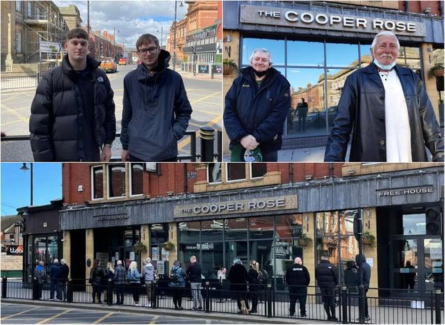 Customers have been queuing to get into J.D Wetherspoon The Cooper Rose new beer garden in Sunderland