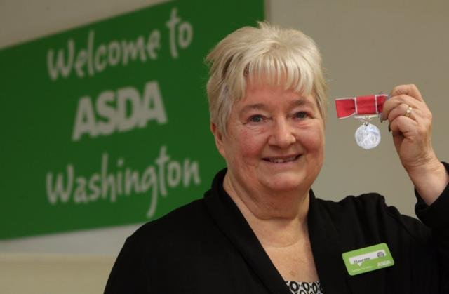 Maureen Wallwork with her British Empire Medal (BEM) that she received in 2017 for her services to charity.