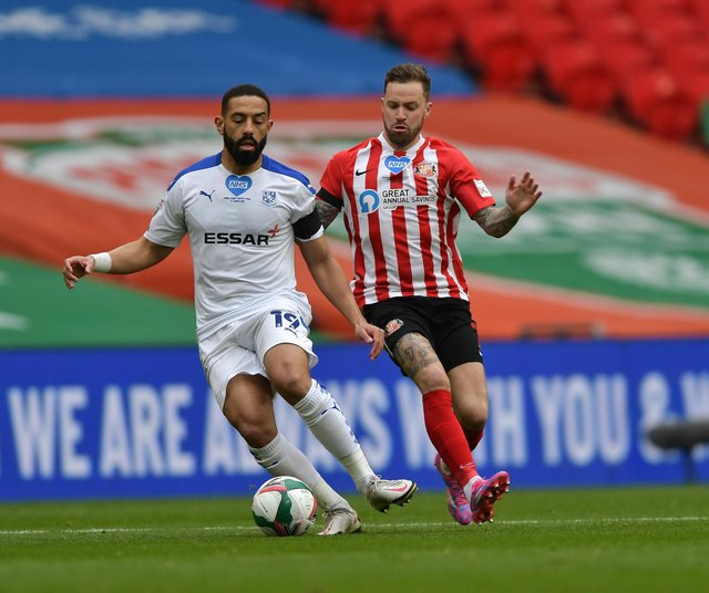 Chris Maguire in action during the Papa John's Trophy final