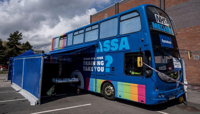 The vaccine bus will be travelling to locations in County Durham