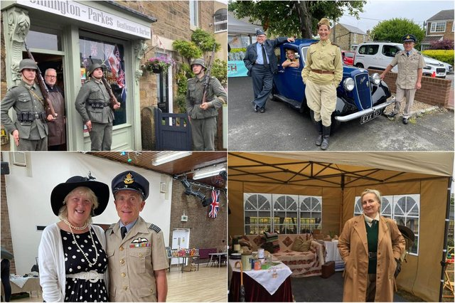 Members of the Washington community celebrate the Springwell Village 1940s weekend