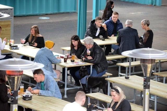 People can sit in for food and drink at Stack from April 12