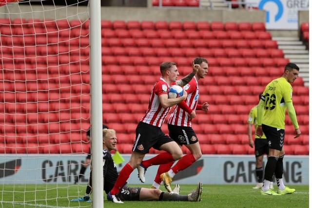 Carl Winchester scored his first Sunderland goal on Sunday