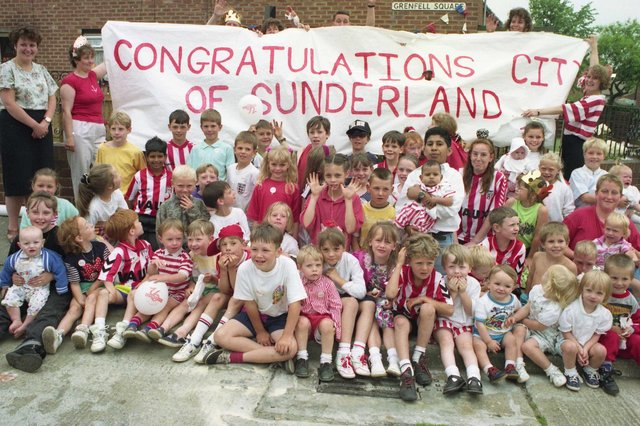 The year it officially became the City of Sunderland and look at the fun that these residents of Grenfell and Guernsey Street, Grindon were having. Are you pictured?