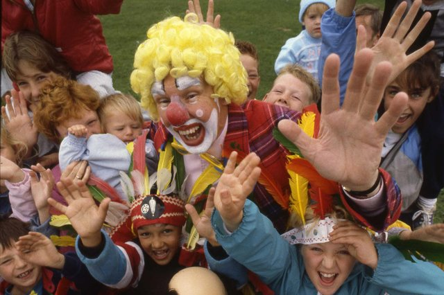 Were you pictured enjoying a day with clowns at Seaburn?