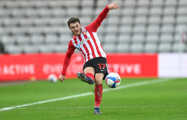 Sunderland player Elliot Embleton, now on loan at Blackpool, in action during the Sky Bet League One match between Sunderland and AFC Wimbledon.