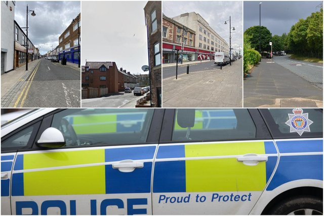 """Some of the locations where most Sunderland reported crimes was said to have taken place """"on or near"""" in June."""