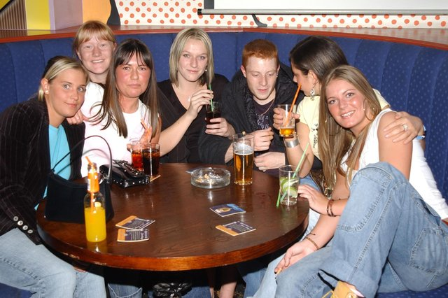 Friends having fun in 2004. Are you pictured?